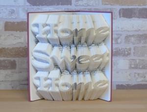 gefaltetes Buch - Home Sweet Home // Bookfolding // Buchkunst // Book Art // Buchfalten // Geschenk zur Einweihung, Einzug // neues Heim - Handarbeit kaufen
