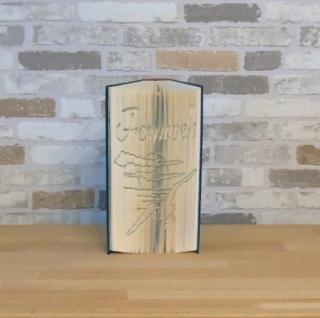 gefaltetes Buch - Fernweh // Buchkunst // Bookfolding // Geschenk // Dekoration // Urlaub // Buchschneidekunst - Handarbeit kaufen