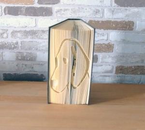 gefaltetes Buch - Hundekopf // Buchkunst // Bookfolding // Geschenk // Dekoration // Hundeliebhaber // Hundefreunde // Buchfalten - Handarbeit kaufen