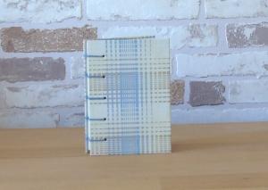 Notizbuch A7 Streifen pastell // Blankobuch // Mitbringsel // Geburtstag // Geschenk // Adressen / Notizen  - Handarbeit kaufen