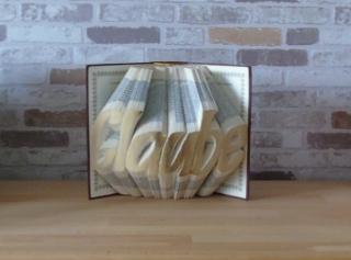 gefaltetes Buch - Glaube // Buchkunst // Bookfolding // Dekoration // Geschenk // Konfirmation // Geburtstag - Handarbeit kaufen