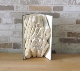 gefaltetes Buch - Miss you // Buchkunst // Bookfolding // Dekoration // Geschenk // Freundschaft