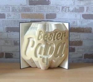gefaltetes Buch - Bester Papa // Buchkunst // Bookfolding // Dekoration // Vatertag // Geburtstag - Handarbeit kaufen