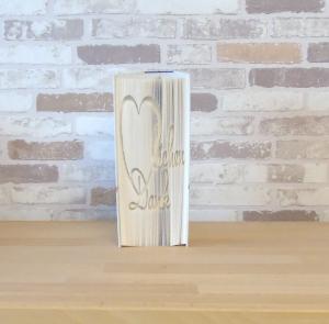 gefaltetes Buch - Herzlichen Dank // Buchkunst // Bookfolding // Dekoration // Geschenk // Dankeschön // Book Art