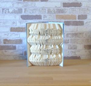 gefaltetes Buch - Die Welt ist ein Irrenhaus, und hier ist die Zentrale // Buchkunst // Dekoration // Spruch im Buch // Geschenk  - Handarbeit kaufen