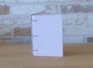 Notizbuch A7 - rosa kariert // Buchbinden // koptische Bindung // Blankobuch // Geschenk // Kladde // handgebunden