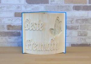 gefaltetes Buch - Beste Freundin // Buchkunst // Buchfalten // Dekoration // Geschenk // Freundschaft // Schmetterling - Handarbeit kaufen