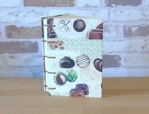 Notizbuch A6 - Pralinen // Tagebuch // Schokolade // Geschenk // Diary // Skizzenbuch // Kladde // Erinnerung  - Handarbeit kaufen