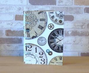 Notizbuch A5 - Zeit - Uhren // Tagebuch // Skizzenbuch // blanko // Geschenk // Erinnerungen // Diary