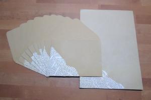 Briefpapier Set - Buchschnipsel // Brief // Letter // Geschenk // Schreiben - Handarbeit kaufen