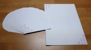 Briefpapier Set - rosa Blumen // Brief // Schreiben // Letter // Geschenk - Handarbeit kaufen