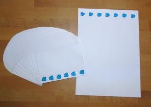 Briefpapier Set - Muscheln // Brief // Letter // Schreiben // Geschenk