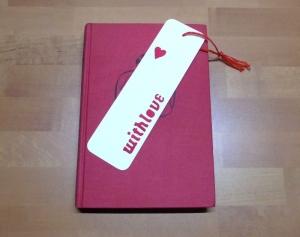 Lesezeichen - with love // Leseratte // Bücherwurm // Bookmark // Liebe - Handarbeit kaufen