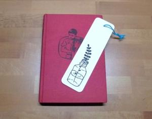 Lesezeichen - Zweig in einer Flasche // Leseratte // Bookmark // Bücherwurm // lesen