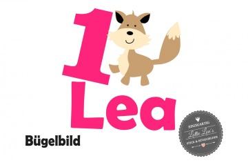 Bügelbild Geburtstag Birthday Fuchs Hund mit Flex