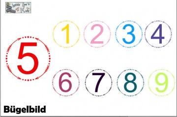 Individuelles Bügelbild zum Geburtstag Birthday Zahl Pfeil Kreis auch mit Wunsch Name in Flex XXL