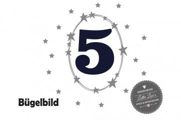 Individuelles Bügelbild Geburtstag Wunsch Zahl Sterne Stars auch mit  Name Aufbügler in Flex XXL