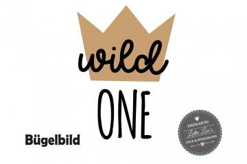 Individuelles Bügelbild Geburtstag Wild One Krone  Aufbügler in Flex XXL