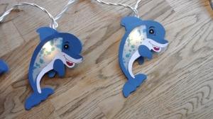 Lichterkette  Delphin, gebastelt aus verschiedenen Papieren, für den Innenbereich  - Handarbeit kaufen