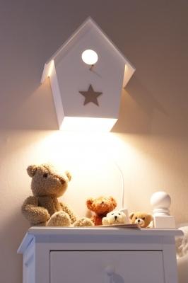 Kinderzimmerlampe, Kinderlampe, Babylampe, Vogelhauslampe
