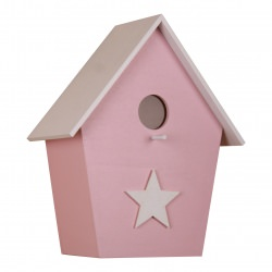 Kinderzimmerlampe Vogelhauslampe in rosa