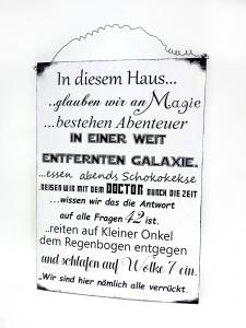 Magisches Haus Türschild aus Holz mit Liebe Handgemacht