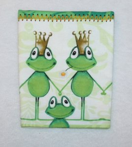 Hülle für Mutterpass - kiss me frog  - Handarbeit kaufen