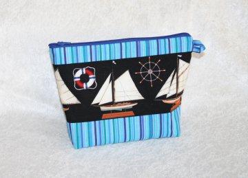maritime Kosmetiktasche - auch Herrentasche für z.B. Rasierzeug - Handarbeit kaufen