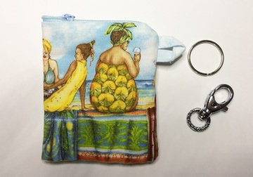 Tampontasche oder Täschchen für allerlei Mädchenkram - Fruit Ladies - Handarbeit kaufen