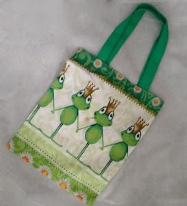 Büchertasche / Geschenkbeutel / Kindertasche Frosch - Froschkönig