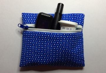 Täschchen für die Insulinpumpe oder die Mundmaske für unterwegs - Handarbeit kaufen