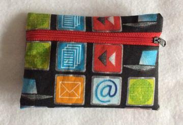 Kleine Gürteltasche mit lustigen Apps - Pumpentasche - Handarbeit kaufen