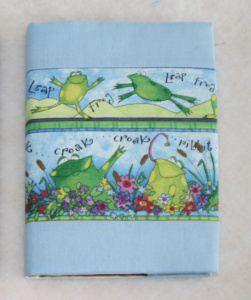 Notizbuch mit Buchhülle A5 -  Froschkonzert - Handarbeit kaufen