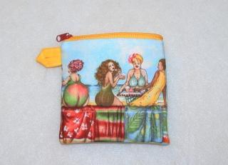 kleines Täschchen für allerlei Mädchenkram - Fruit Ladies - Handarbeit kaufen