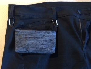 grau/schwarze  Pumpentasche   - Tasche für Insulinpumpe