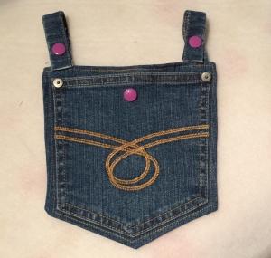 Upcycling Jeans - Tasche zur Befestigung an den Gürtelschlaufen der Hose oder am Gürtel - Pumpentasche