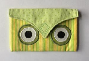 Kleines Eulentäschchen mit Klettverschluss - Handarbeit kaufen