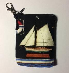 maritimes Täschchen  - Taschenbaumler - Pumpentasche - Handarbeit kaufen