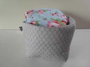 Eierkörbchen/ Eierwärmer *Sottile* Baumwolle grau mit Deckel nach Wahl von friess-design