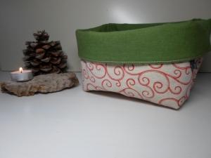 Utensilo/ Brotkorb *Natale Viticcio* Baumwolle grün von friess-design  - Handarbeit kaufen