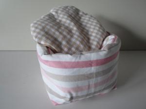 Eierkörbchen/ Eierwärmer *striscio* rosa Baumwolle mit Deckel nach Wahl von friess-design