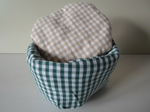 Eierkörbchen/ Eierwärmer *Farina Verde * Baumwolle dunkelgrün mit Deckel nach Wahl von friess-design  - Handarbeit kaufen