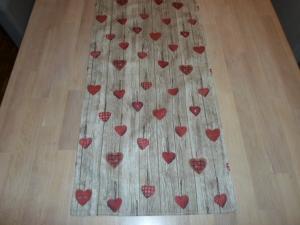 Tischläufer *Albero* für's VALENTINS-Dinner Baumwolle 138x37cm von friess-design