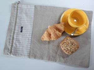 Brotbeutel *de luxe* Leinen natura beige / Farina beige von friess-design mit Baumwollkordel  - Handarbeit kaufen