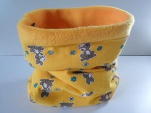 Kinder-Loop Schal Schlauchschal *Goldener Anfang* Fleece gelb von friess-design
