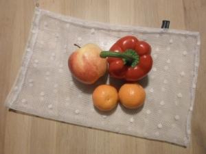Obstnetz/ Gemüsenetz 25x36cm mit Kordel von friess-design - Handarbeit kaufen