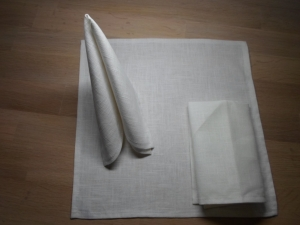 Stoffservietten Leinen weiß, 2er-Set von friess-design  - Handarbeit kaufen