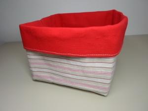 Brotkorb *Livorno* Baumwolle rot quadratisch, sehr fest von friess-design  - Handarbeit kaufen