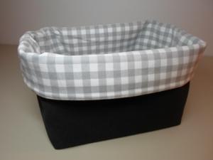 Stoffkorb/ Brotkorb *Farina grau* Baumwolle  (sehr fest) von friess-design  - Handarbeit kaufen
