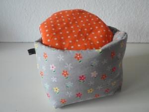 Eierkörbchen/ Eierwärmer *primi Fiori* Baumwolle mit Deckel nach Wahl von friess-design